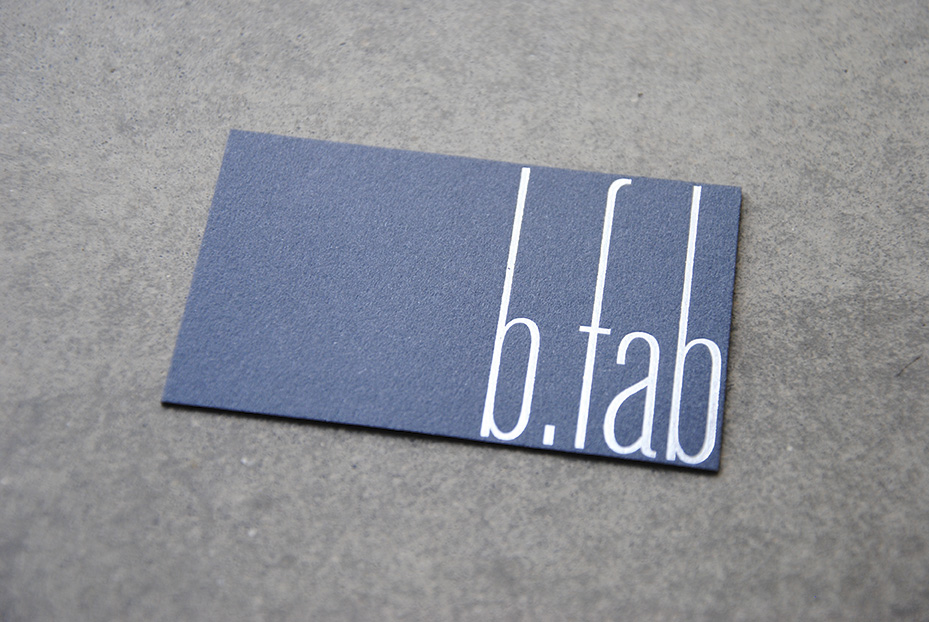 b.fab – design biglietto da visita