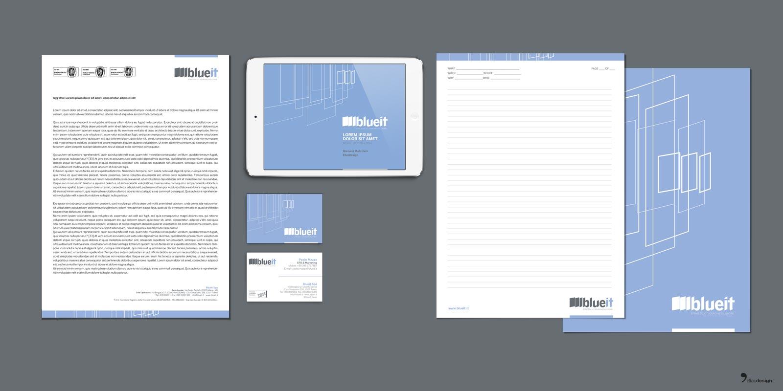 Blueit - immagine coordinata