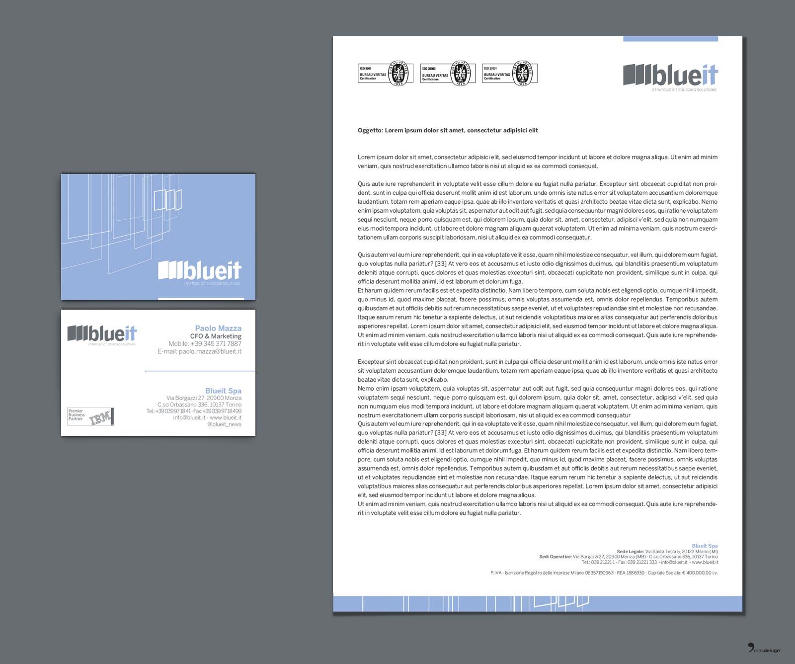 Blueit – immagine coordinata